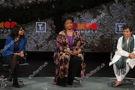 Nina Lakhani, Mae Jamison and Christiana Figueres