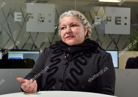 Defender of Human Rights, Indigenous Peoples and the Environment, Mexican Karen Taxilaga, speaks during an interview to Spanish News Agency EFE held in Madrid, Spain, 10 April 2019.
