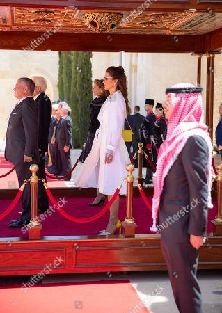 Their Majesties King Abdullah II and Queen Rania and His Royal Highness Crown Prince Al Hussein bin Abdullah II, Italian President Sergio Mattarella and his daughter First Lady Laura Mattarella