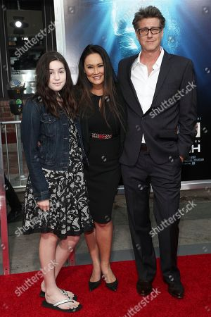 Stock Image of Bianca Wakelin, Tia Carrere and Simon Wakelin