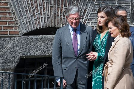 Queen Letizia and the Vice President of the Government and Minister of the Presidency, Relations with the Courts and Equality, Carmen Calvo Poyato