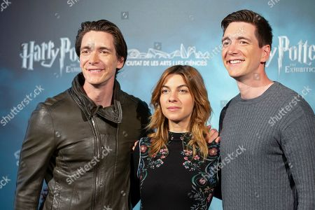 Stock Picture of Oliver Phelps, Natalia Tena and James Phelps