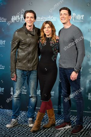 Stock Image of Oliver Phelps, Natalia Tena and James Phelps