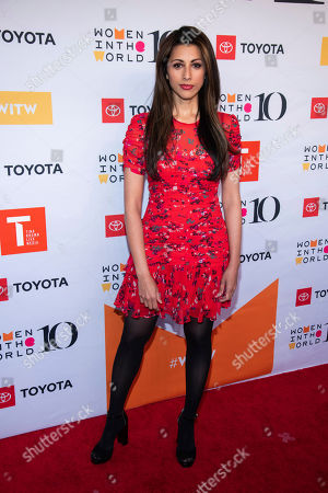 Reshma Shetty attends the Women in the World Summit opening night at the David H. Koch Theater at Lincoln Center, in New York