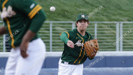 Norfolk State infielder Adam Collins throws the ball during an NCAA college baseball game, in Charlottesville, Va