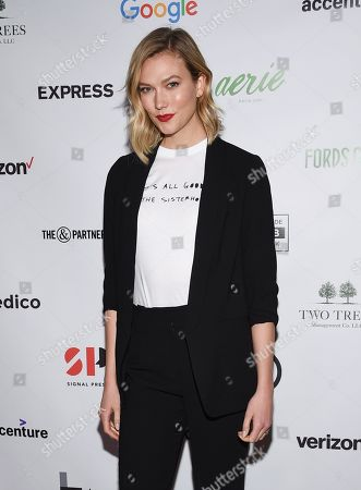 Karlie Kloss attends the Lower Eastside Girls Club Spring Fling gala at the Angel Orensanz Foundation, in New York