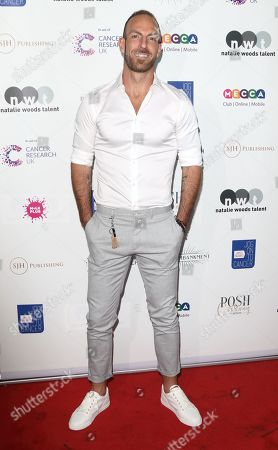 Stock Photo of James Ingham on the red carpet at his 'Jog-On to Cancer' 7th annual party raising funds for Cancer Research UK, at Proud Embankment