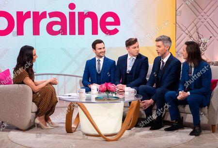 Christine Lampard, Collabro - Michael Auger, Matt Pagan, Jamie Lambert and Thomas J Redgrave