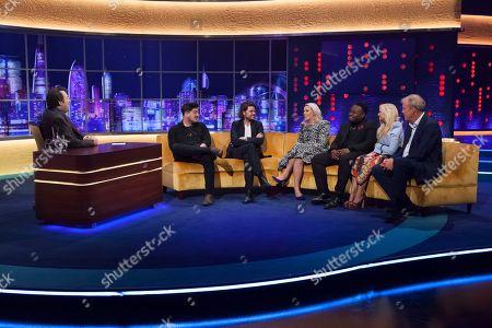 Jonathan Ross, Marcus Mumford, Winston Marshalll, Sara Pascoe, Samson Kayo, Emma Bunton and Jeremy Clarkson