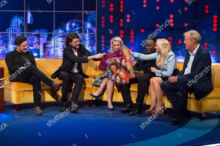 Marcus Mumford, Winston Marshalll, Sara Pascoe, Samson Kayo, Emma Bunton and Jeremy Clarkson