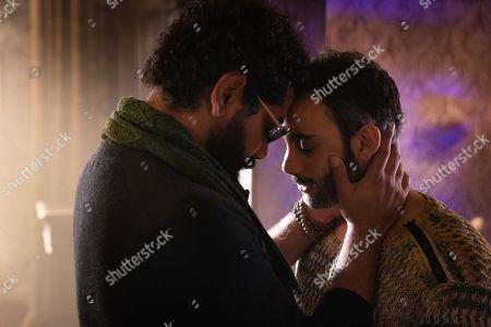 Mousa Kraish as The Jinn and Omid Abtahi as Salim