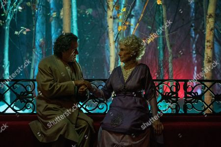 Ian McShane as Mr. Wednesday and Cloris Leachman as Zorya Vechernyaya