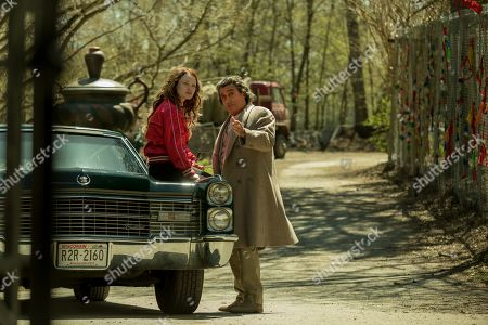 Emily Browning as Laura Moon and Ian McShane as Mr. Wednesday