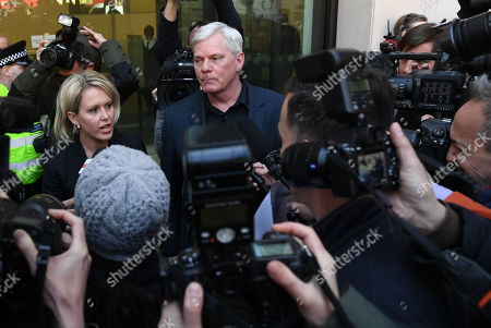 Representatives of Wikileaks founder Julian Assange, Wikileaks Editor in Chief Kristinn Hrafnsson (C-R) and Barrister Jennifer Robinson (C-L) address the media outside Westminster Magistrates Court in London, Britain, 11 April 2019. Julian Assange was arrested in London 11 April. Wikileaks founder Julian Assange was arrested at the Ecuadorian Embassy in London, where he has claimed political asylum since June 2012, after he was accused of rape and sexual assault against women in Sweden.
