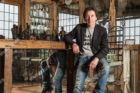 Stock Image of Surrey United Kingdom - March 29: Portrait Of English Musician Kenney Jones Photographed At His Home In Surrey England On March 29 2018. Jones Is Best Known As A Drummer With The Small Faces