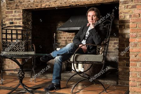 Surrey United Kingdom - March 29: Portrait Of English Musician Kenney Jones Photographed At His Home In Surrey England On March 29 2018. Jones Is Best Known As A Drummer With The Small Faces
