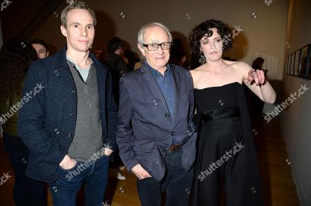 Jim Loach, Ken Loach and Cassie Beadle