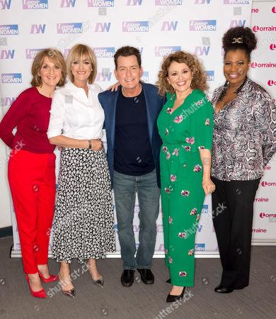 Kaye Adams, Jane Moore, Charlie Sheen, Nadia Sawalha and Brenda Edwards