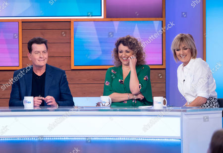 Stock Picture of Charlie Sheen, Nadia Sawalha and Jane Moore