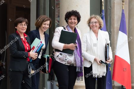 French Overseas Minister Annick Girardin, French Defence Minister Florence Parly, French High Education and Research Minister Frederique Vidal and French Labour Minister Muriel Penicaud