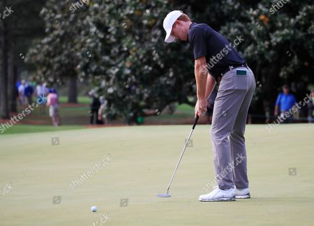 Kevin O'Connell of the US putts on the first hole during the first round of the 2019 Masters Tournament at the Augusta National Golf Club in Augusta, Georgia, USA, 11 April 2019. The 2019 Masters Tournament is held 11 April through 14 April 2019.