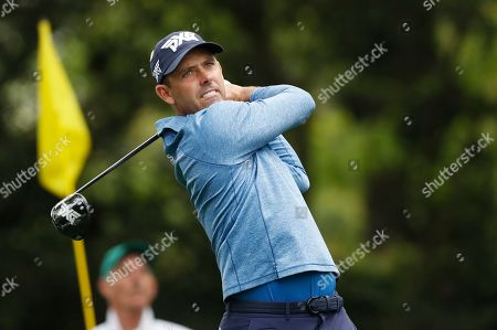 Charl Schwartzel of South Africa hits his tee shot on the second hole during the first round of the 2019 Masters Tournament at the Augusta National Golf Club in Augusta, Georgia, USA, 11 April 2019. The 2019 Masters Tournament is held 11 April through 14 April 2019.
