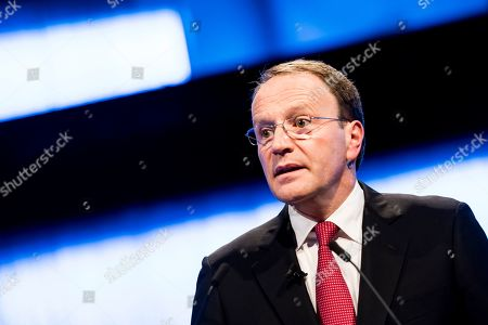 Nestle's CEO Ulf Mark Schneider speaks during the general meeting of the world's biggest food and beverage company, Nestle Group, in Lausanne, Switzerland, 11 April 2019.