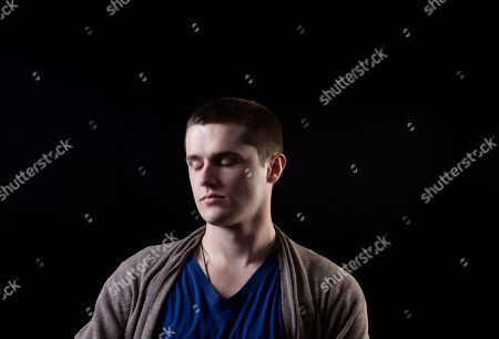 """Stock Picture of This photo shows actor Eugene Simon, who portrayed Lancel Lannister in the HBO series """"Game of Thrones,"""" posing for a portrait in Los Angeles. The final season of the series premieres on Sunday"""