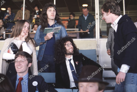 John Deacon, Brian May and his wifer Chrissie Mullen