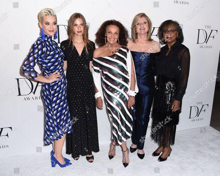 Katy Perry, Talita von Furstenberg, Diane von Furstenberg, Arianna Huffington, and Anita Hill