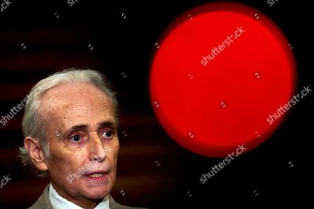 Spanish tenor Jose Carreras during a press conference on the eve of the concert in tribute to Spanish soprano Montserrat Caballe at Gran Teatro del Liceu theater in Barcelona, Catalonia, Spain, 11 April 2019. The concert will be directed by Lluis Pasqual.