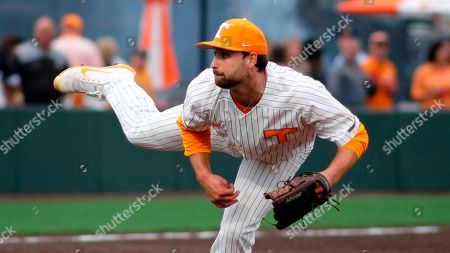 Tennessee pitcher Garrett Stallings (27) delivers the pitch during an NCAA college baseball game against Mississippi State, in Knoxville, Tenn