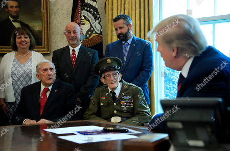 Editorial photo of Trump World War II Veterans, Washington, USA - 11 Apr 2019