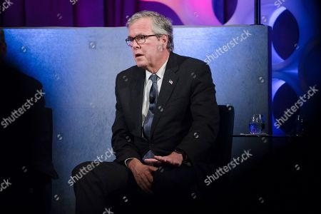 Stock Image of Former Florida Gov. Jeb Bush takes part in a forum on the opioid epidemic, at the University of Pennsylvania in Philadelphia
