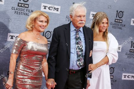 Stock Image of Mimi Bean, Ted Turner and Laura Elizabeth Seydel