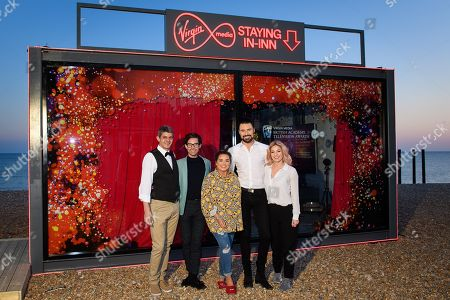 Editorial image of 'The Virgin Media Staying In-Inn' photocall, Brighton, UK - 11 Apr 2019