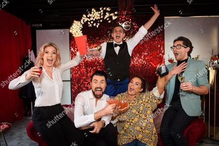 Stock Image of CiCi Coleman, Rylan Clark Neal, Merlin Griffiths, Scarlett Moffatt and Tom Read Wilson