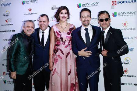 Luis Miranda, Jose Calderon, Lin-Manuel Miranda and Marc Anthony