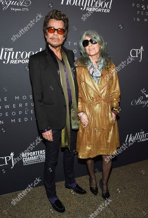Stock Picture of David Johansen, Mara Hennessey. Singer David Johansen and wife Mara Hennessey attend The Hollywood Reporter's annual Most Powerful People in Media cocktail reception at The Pool, in New York