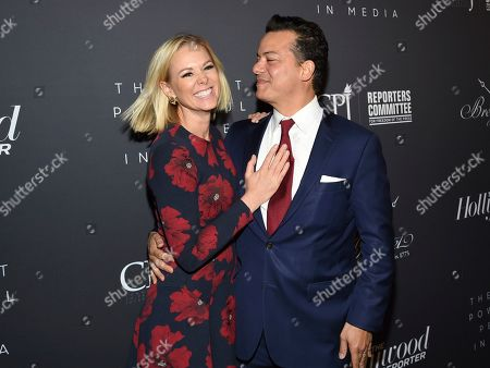 Margaret Hoover, John Avlon. Television commentator Margaret Hoover, left, and husband, New Day anchor John Avlon attend The Hollywood Reporter's annual Most Powerful People in Media cocktail reception at The Pool, in New York