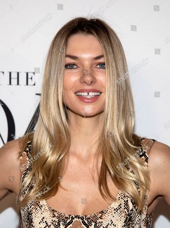Jessica Hart attends the 10th annual DVF Awards at the Brooklyn Museum, in New York