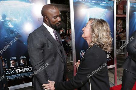 Mike Colter, Elizabeth Gabler, president of Fox 2000,