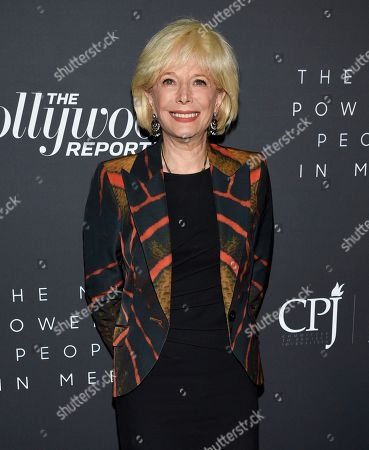 Stock Picture of Journalist Lesley Stahl attends The Hollywood Reporter's annual Most Powerful People in Media cocktail reception at The Pool, in New York