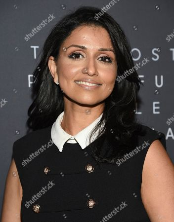 CBS Weekend News anchor Reena Ninan attends The Hollywood Reporter's annual Most Powerful People in Media cocktail reception at The Pool, in New York