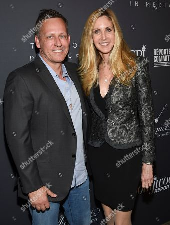 Peter Thiel, Ann Coulter. PayPal co-founder Peter Thiel, left, and political commentator Ann Coulter attend The Hollywood Reporter's annual Most Powerful People in Media cocktail reception at The Pool, in New York