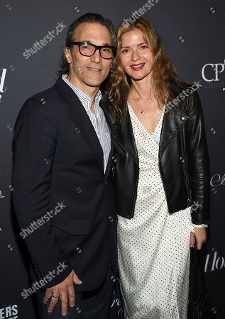 Paolo Mastropietro, Jill Hennessy. Actress Jill Hennessy and husband Paolo Mastropietro attend The Hollywood Reporter's annual Most Powerful People in Media cocktail reception at The Pool, in New York