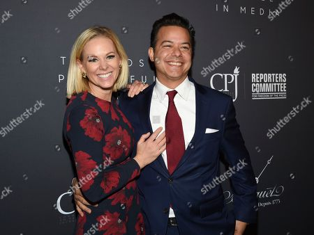 Margaret Hoover, John Avlon. Television commentator Margaret Hoover, left, and husband New Day anchor John Avlon attend The Hollywood Reporter's annual Most Powerful People in Media cocktail reception at The Pool, in New York
