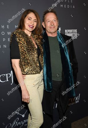 Lorraine Kirke, Simon Kirke. Drummer Simon Kirke, right, and wife Lorraine Kirke attend The Hollywood Reporter's annual Most Powerful People in Media cocktail reception at The Pool, in New York