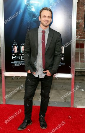 """Stock Picture of Adam McArthur arrives at the LA Premiere of """"Breakthrough"""" at the Regency Village, in Los Angeles"""