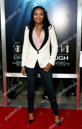 """Malina Moye arrives at the LA Premiere of """"Breakthrough"""" at the Regency Village, in Los Angeles"""